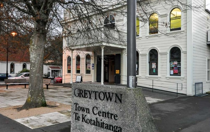 Greytown Town Centre – this is the third building over the years used as the town centre. This one was extensively refurbished in the mid-2000s and is well utilised by the community today