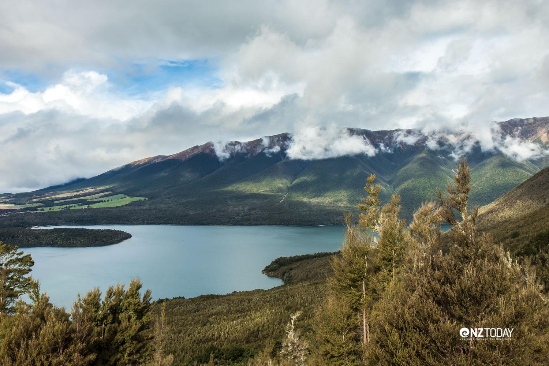 Lake Rotoiti and the west side of St Arnaud range