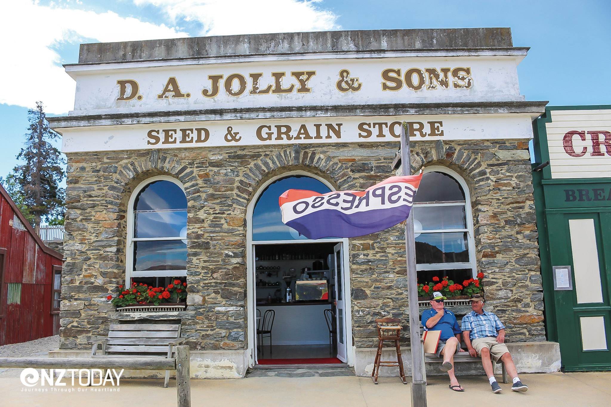 The name Jolly has long links with Cromwell. Two gents relax in the sun in Old Cromwell Town