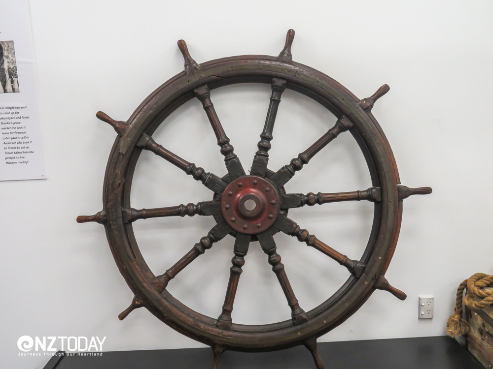 Ship's wheel from the wreck of the Maroro