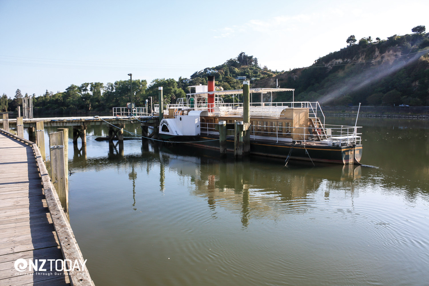 The old Waimarie paddle steamer still plies the river