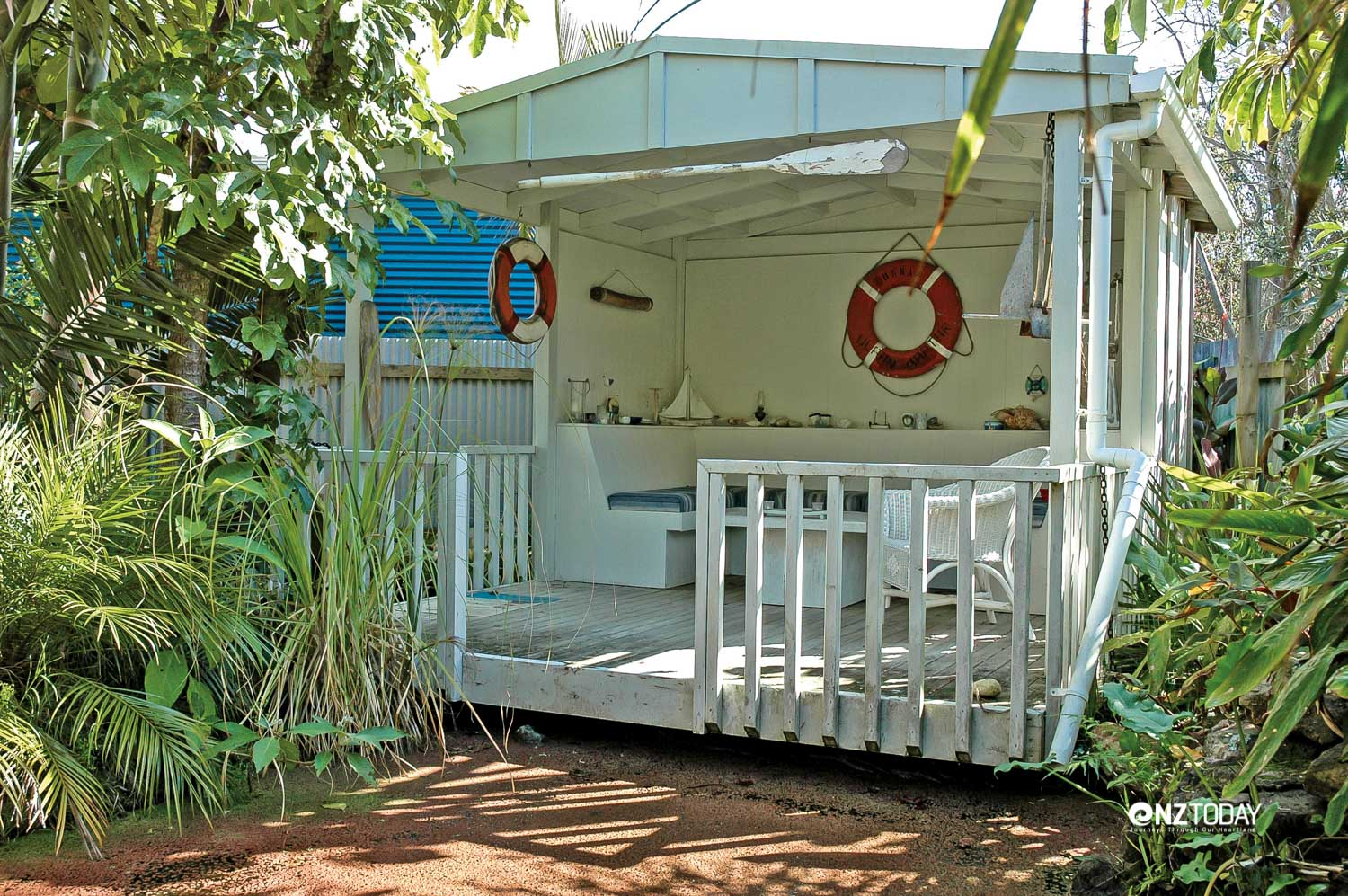 Many gardens have quirky outbuildings, or summer-houses with suitably nautical themes