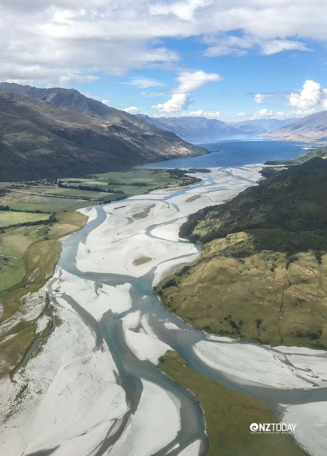 Makarora River and northern reaches of Lake Wanaka