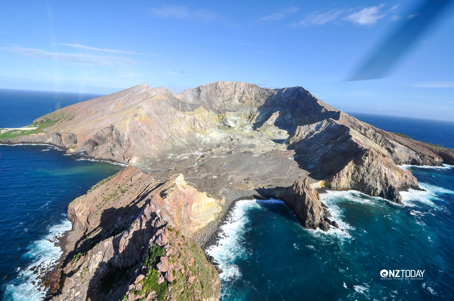 This volcano is 321 metres above sea level, but goes down at least 1600 metres relative to the sea bed. The crater is about 30 metres below sea level, which is just one of the factors that makes it unique in the world