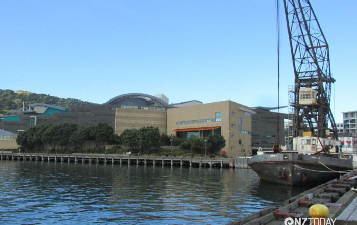 Te Papa sits on the Wellington waterfront near the heart of the city