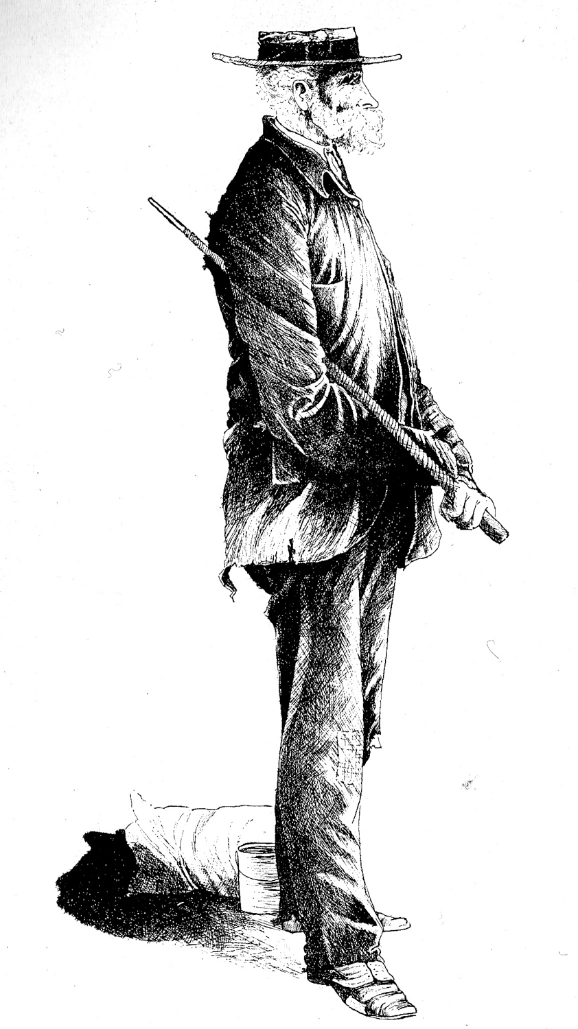 Period drawing of Ned Slattery — The Shiner