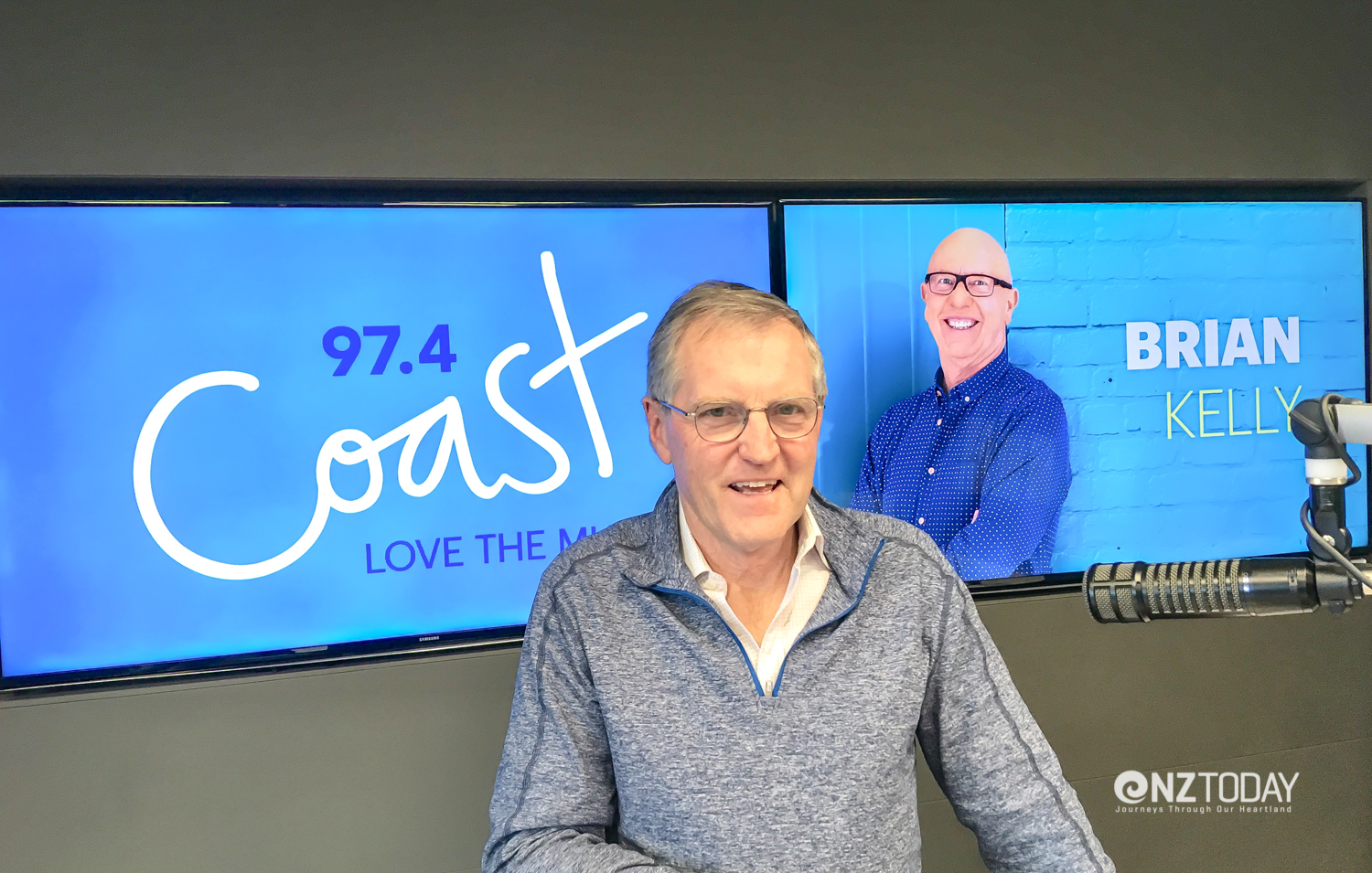 Brian Kelly might have been on holiday but I could feel his presence every day in the Coast studio!