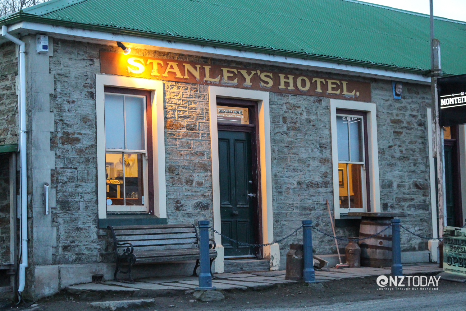 Stanley's Hotel at Macraes Flat a tribute to the craftsmanship of stonemason William Budge — even if he was paid in beer!