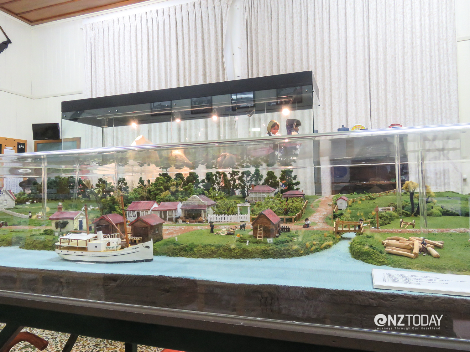 Small but perfectly fascinating – diorama of Puhoi village as it was in 1900