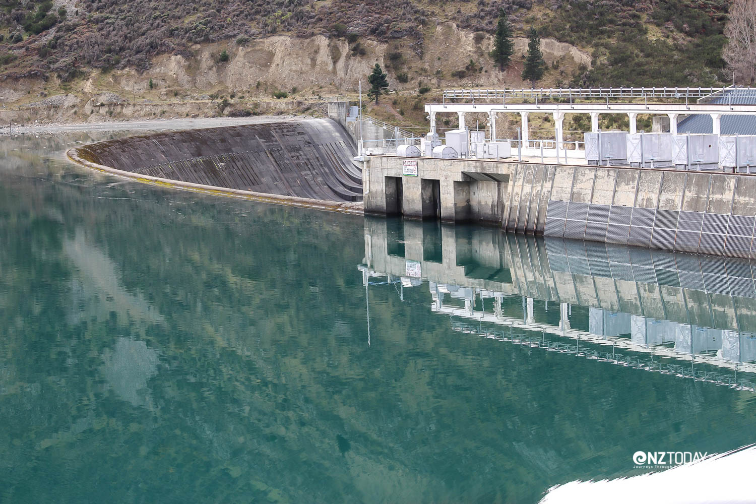 The Waitaki dam, with its unique overflow system