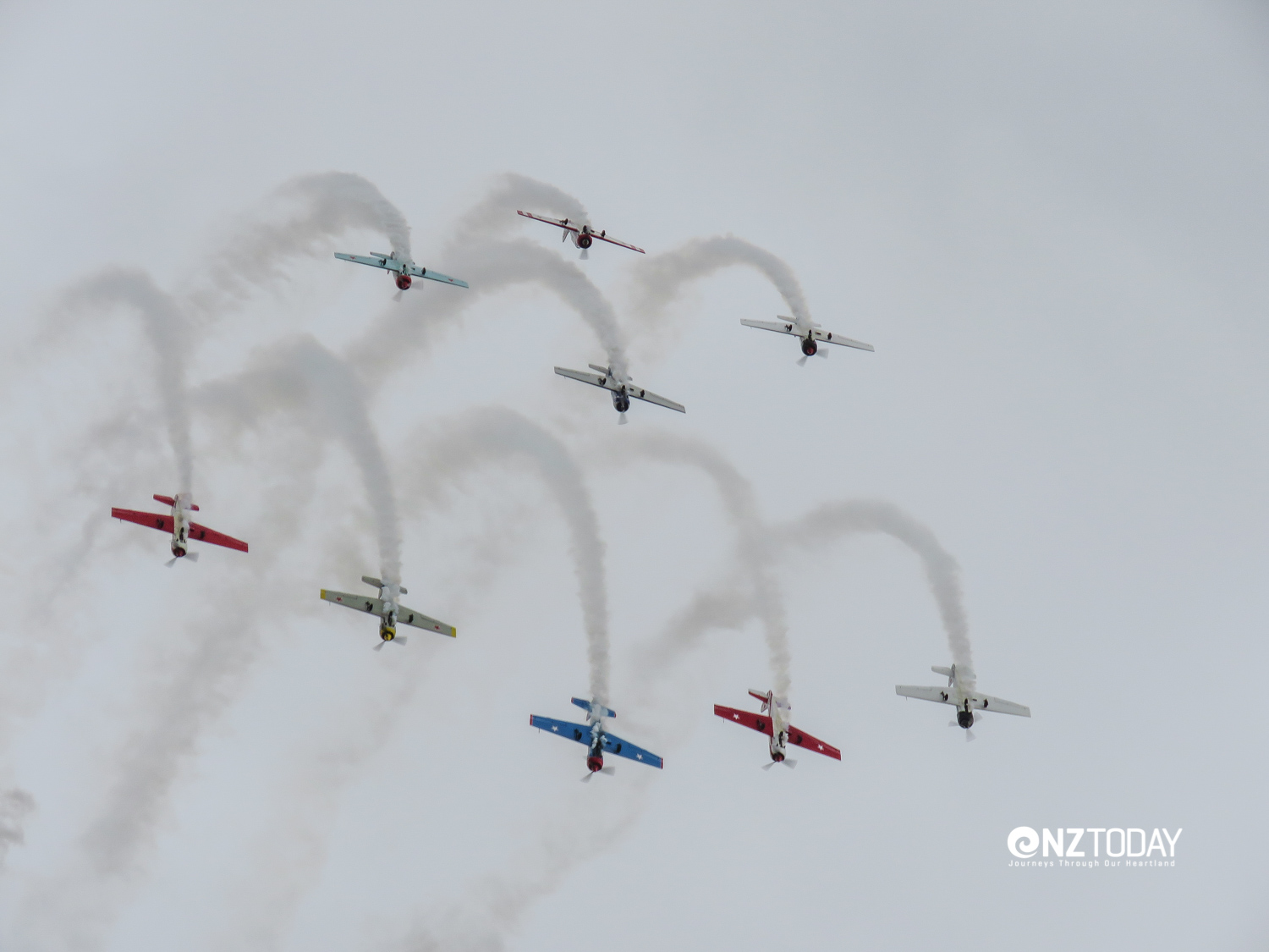 Practice makes perfect formation flying.