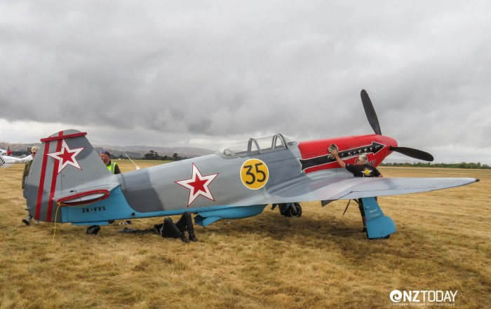 Vintage planes on display. They flew later in the day
