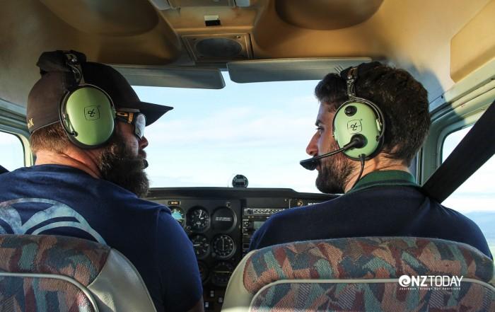 The pilots – Lachie (left) and Joseph (right)