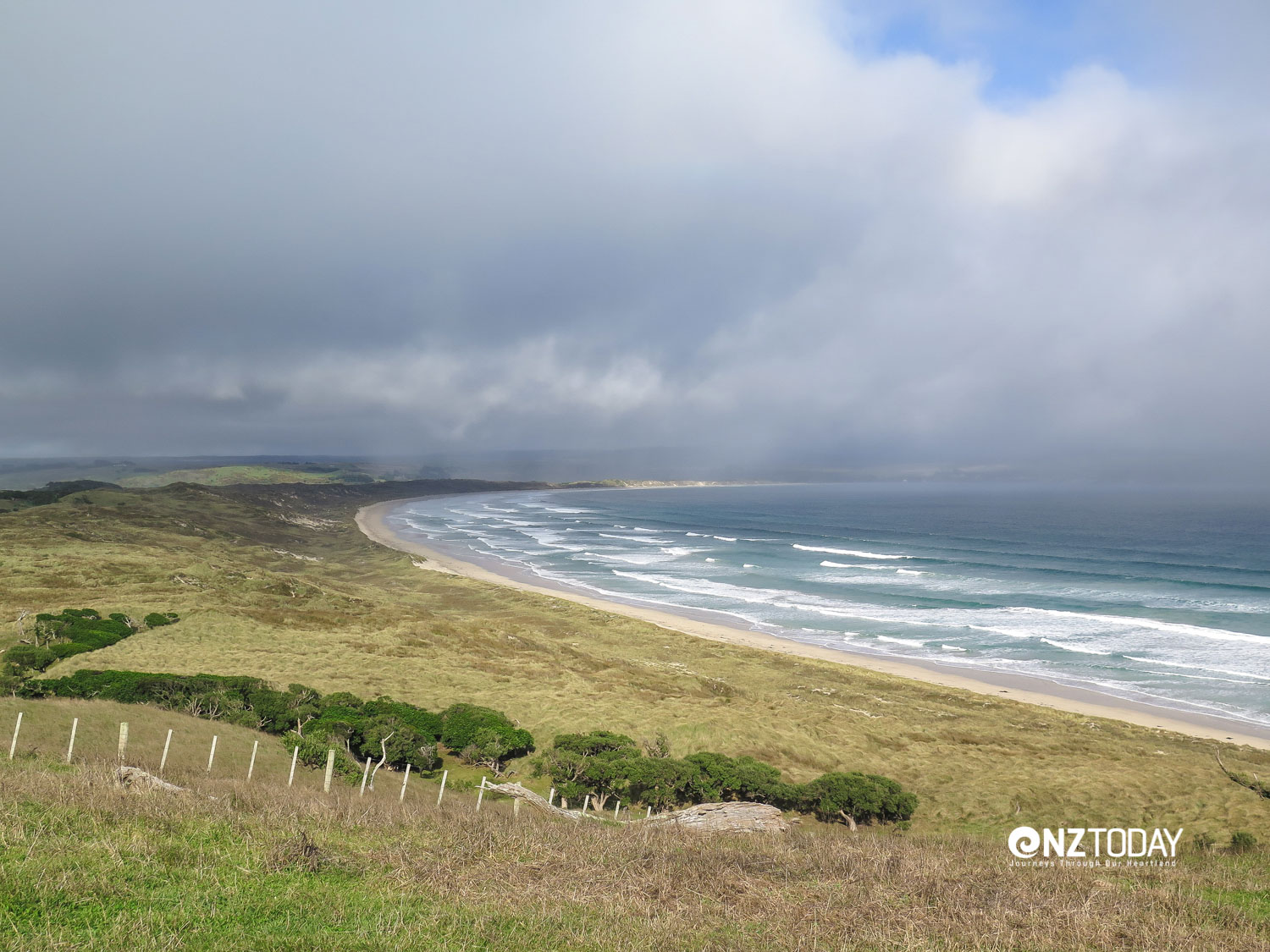 You're never far from the sea on the Chathams - which makes for very changeable weather